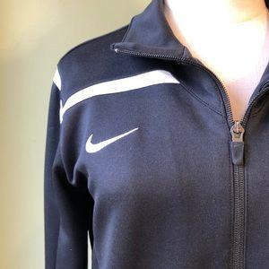 Nike Women's DriFit Athletic Black Track Jacket M